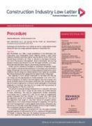 Cover of Construction Industry Law Letter: Print + Online