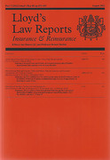 Cover of Lloyd's Law Reports: Insurance and Reinsurance - Print + Online