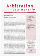 Cover of Arbitration Law Monthly: Print + Online