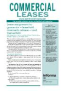 Cover of Commercial Leases: Newsletter + Online