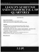 Cover of Lloyd's Maritime and Commercial Law Quarterly: Print + Online