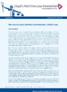Cover of Lloyd's Maritime Law Newsletter: Print + Online
