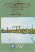 Cover of Historic Environment Law: 1st Supplement