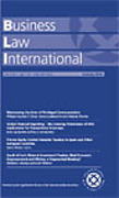 Cover of Business Law International: Print Subscription