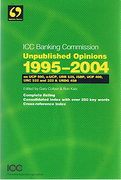 Cover of Unpublished Opinions of the Banking Commission 1995-2004