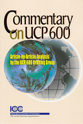 Cover of Commentary on UCP 600: Article-by-Article Analysis by the UCP 600 Drafting Group