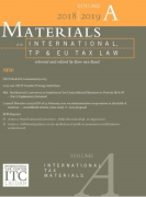 Cover of Materials on International, TP and EU Tax Law 2018-2019: Volume A