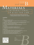 Cover of Materials on International, TP and EU Tax Law 2018-2019: Volume B