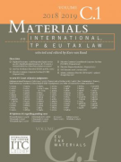 Cover of Materials on International, TP and EU Tax Law 2018-2019: Volume C1