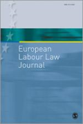 Cover of European Labour Law Journal: Print + Single-User Online Access