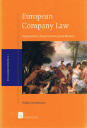Cover of European Company Law: Organization, Finance and Capital Markets