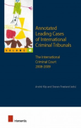 Cover of Annotated Leading Cases of International Criminal Tribunals - volume 40: The International Criminal Court 2008-2009