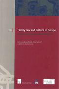 Cover of Family Law and Culture in Europe: Developments, Challenges and Opportunities