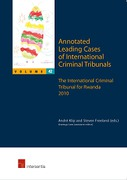 Cover of Annotated Leading Cases of International Criminal Tribunals - volume 42: The International Criminal Tribunal for Rwanda 2010 (1 January - 21 October 2010)
