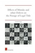 Cover of Effects of Mistake and Other Defects on the Passage of Legal Title