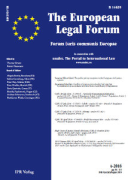 Cover of The European Legal Forum