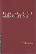 Cover of Legal Research and Writing