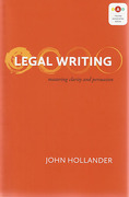Cover of Legal Writing: Mastering Clarity and Persuasion