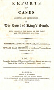 Cover of Reports of Cases Argued and Determined in the Court of Kings Bench