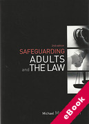 Cover of Safeguarding Adults and the Law (eBook)