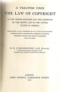 Cover of A Treatise upon The Law of Copyright in the United Kingdom and the Dominions of the Crown, and in the United States of America