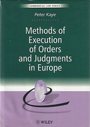 Cover of Methods of Execution of Orders and Judgments in Europe