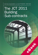Cover of The JCT 2011 Building Sub-contracts (eBook)