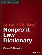 Cover of Hopkins' Nonprofit Law Dictionary