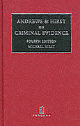 Cover of Andrews & Hirst on Criminal Evidence