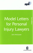 Cover of APIL Model Letters for Personal Injury Lawyers.