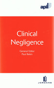 Cover of APIL Clinical Negligence
