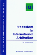 Cover of Precedent in International Arbitration