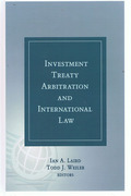 Cover of Investment Treaty Arbitration and International Law Volume 2