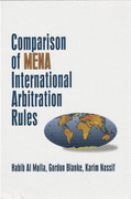 Cover of Comparison of MENA International Arbitration Rules