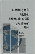 Cover of Commentary on the UNCITRAL Arbitration Rules 2010: A Practitioner's Guide