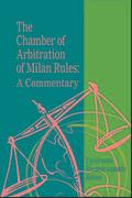 Cover of Chamber of Arbitration of Milan Rules: A Commentary