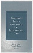 Cover of Investment Treaty Arbitration and International Law Volume 5