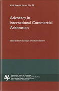 Cover of ASA No 36: Advocacy in International Commercial Arbitration