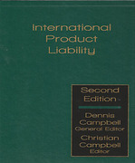 Cover of International Product Liability 2nd ed Looseleaf