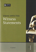 Cover of Taking Effective Witness Statements