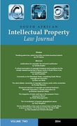 Cover of South African Intellectual Property Law Journal