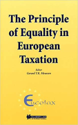 Cover of The Principle of Equality in European Taxation