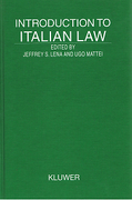 Cover of Introduction to Italian Law