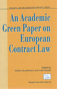 Cover of An Academic Green Paper on European Contract Law