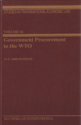 Cover of Government Procurement in the WTO