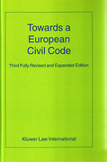 Cover of Towards a European Civil Code