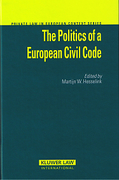 Cover of The Politics of a European Civil Code