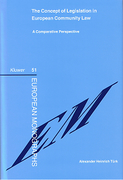 Cover of The Concept of Legislation in European Community Law: A Comparative Perspective