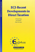 Cover of ECJ-Recent Developments in Direct Taxation