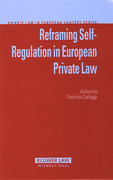 Cover of Reframing Self-Regulation in European Private Law